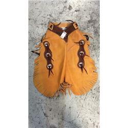 Buckskin Color Soft Leather Chinks