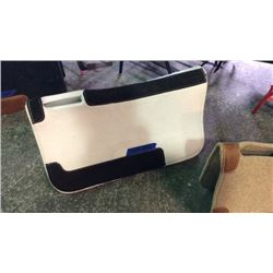 White Felt Saddle Pad