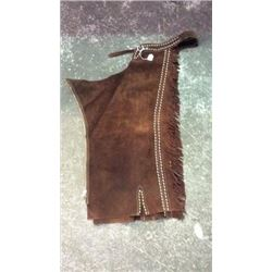 Vintage Swede Leather Chaps with White leather