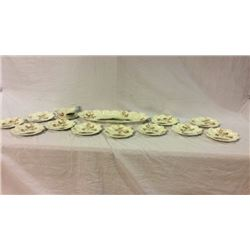Limoges Fish Platter and Plate Set 14 Pc
