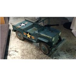 Vintage USA Military Jeep  Pedal Car