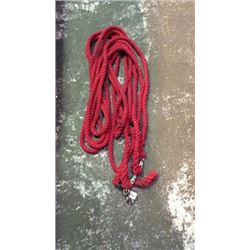 4- 8ft Cotton Lead Ropes with Bull Snaps