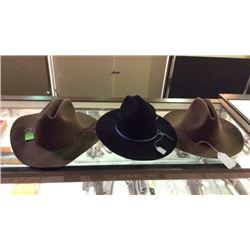 3 Cowboy Hats