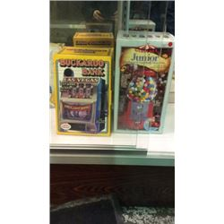 Buckaroo Bank and Junior Antique Gum-ball Machine