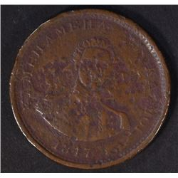 1847 HAWAII CENT, RARE