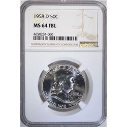 1958-D FRANKLIN HALF DOLLAR NGC
