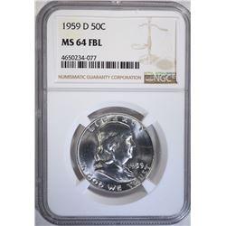 1959-D FRANKLIN HALF DOLLAR NGC