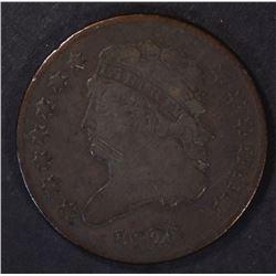 1826 HALF CENT, FINE