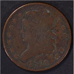 1828 HALF CENT ( 13 STARS ) VF