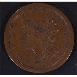 1851 HALF CENT, XF
