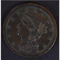 1855 HALF CENT, AU+