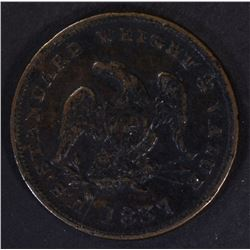 1837 HALF CENT TOKEN, XF