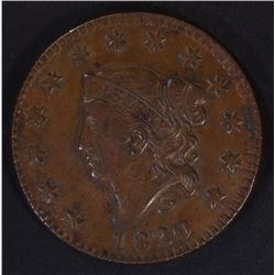 1820 LARGE CENT, SMALL DATE, BEAUTIFUL XF+