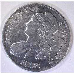 1833 BUST HALF DOLLAR, VF rim bump