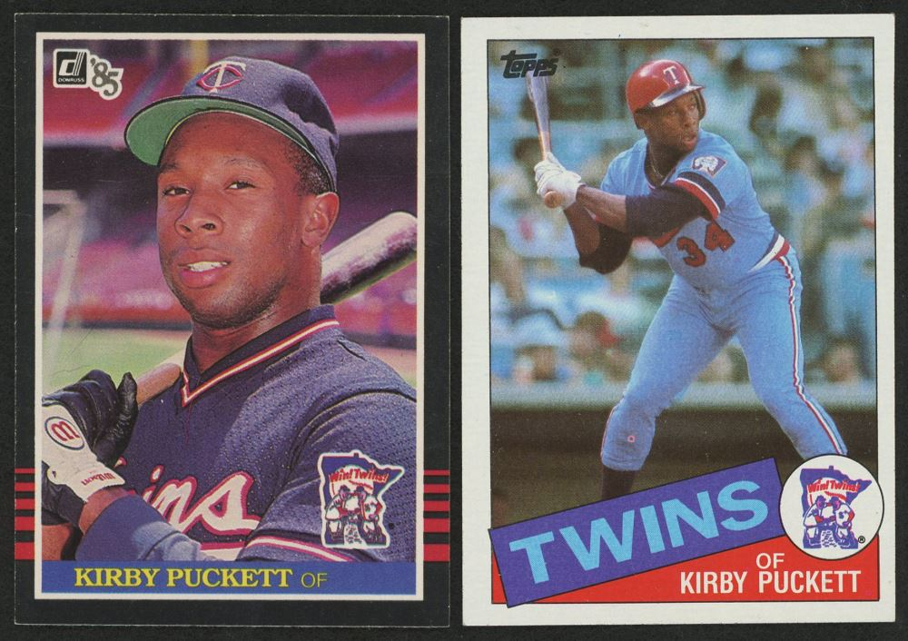 Lot Of 2 Kirby Puckett Rookie Cards With 1985 Topps 536