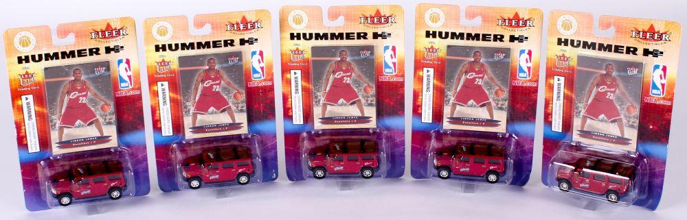 9cf61bf2c0e4 Lot of (5) 2003-04 Fleer Ultra LeBron James RC Hummer H2 Toy Car