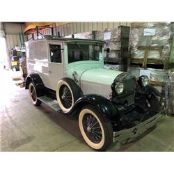 1929 FORD, 2 DR SEDAN, MODEL A ROADSTER SHAY REPRO GREEN, VIN # M0MIEX0136