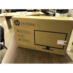 HP 24'' LED FULL HD MONITOR, NEW IN BOX