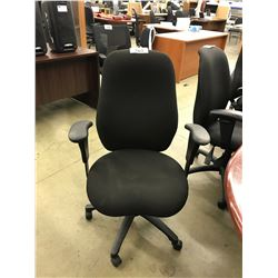BLACK FULLY ADJUSTABLE HIGH BACK TASK CHAIR, S3
