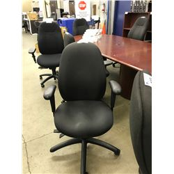 BLACK FULLY ADJUSTABLE HIGH BACK TASK CHAIR, S4