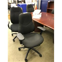 BLACK FULLY ADJUSTABLE HIGH BACK TASK CHAIR, S5