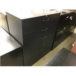 BLACK 6 DRAWER HALF HEIGHT FILING SYSTEM