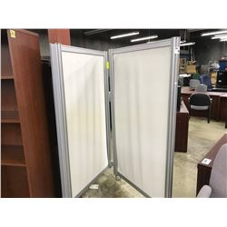 LOT OF 2 GRAY MOBILE PARTITIONS