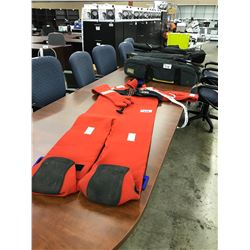 IMPERIAL MODEL 81-1420-NCA ADULT UNIVERSAL IMMERSION SURVIVAL SUIT AND BAG