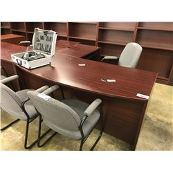 MAHOGANY 6' L-SHAPE EXECUTIVE DESK
