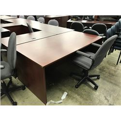 MAHOGANY 6' EXECUTIVE DESK
