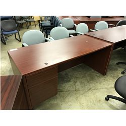 MAHOGANY 5' EXECUTIVE DESK
