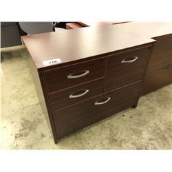 MAHOGANY 4 DRAWER MULTIFILE CABINET