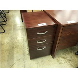 MAHOGANY 3 DRAWER MOBILE PEDESTAL