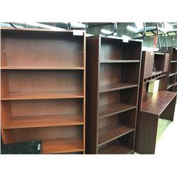 MAHOGANY 6' ADJUSTABLE SHELF BOOK CASE