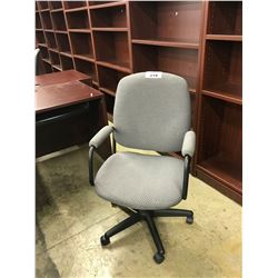 GRAY PATTERN MID BACK EXECUTIVE CHAIR