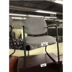 GRAY SLED BASE CLIENT CHAIR