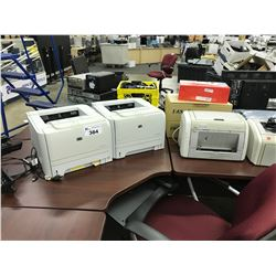 LOT OF 4 HP PRINTERS AND MISC. TONERS