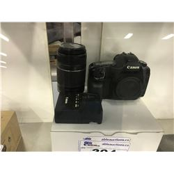 CANON EOS 5D DSLR CAMERA WITH EFS 55-250MM LENS, AND ACCESSORIES