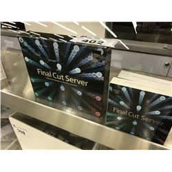 LOT OF FINAL CUT SERVER VERSION 1.5 SOFTWARE, UNLIMITED AND 10 CLIENT PACKAGES