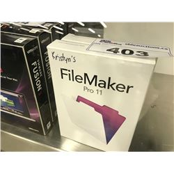 2 COPIES OF FILEMAKER PRO 11, LICENSE ACTIVATION STATUS UNKNOWN