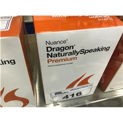 NUANCE DRAGON NATURALLY SPEAKING PREMIUM SPEECH RECOGNITION SOFTWARE, WITH
