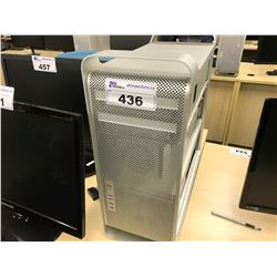 APPLE MAC PRO, MODEL A1289, SERIAL NUMBER E722901NEUF, WITH APPLE KEYBOARD,