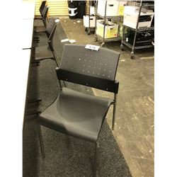 GLOBAL BLACK STACKING SIDE CHAIR