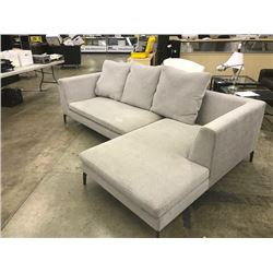 GREY 3 SEAT CHAISE LOUNGE