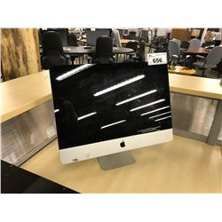 APPLE IMAC 21.5'' COMPUTER, MODEL A1311, SERIAL NUMBER W89453YV5PK, WITH APPLE KEYBOARD,