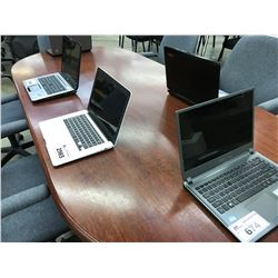 LOT OF 5 ASSORTED LAPTOP COMPUTERS, CONDITION UNKNOWN, NO CHARGERS
