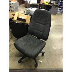 DARK GREY MULTILEVER HIGH BACK TASK CHAIR, NO ARMS
