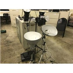 LOT OF ASSORTED PHOTOGRAPHY LIGHTING AND STANDS