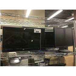 4 ASSORTED FLATSCREEN MONITORS