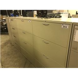 BEIGE 4 DRAWER LATERAL FILE CABINET
